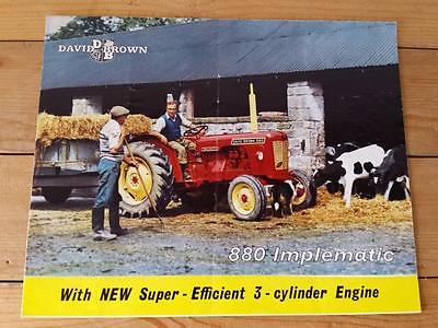Vintage Original 1960's David Brown 880 Implematic Tractor Sales Brochure Poster