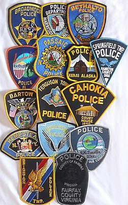 Mixed Lot of 15 different US/Int. Police Patches  NEW! Lot 4