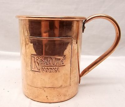 NEW! Vtg Solid Copper Moscow Mule Mug Ketel One Vodka Cup Christmas Bar Xmas