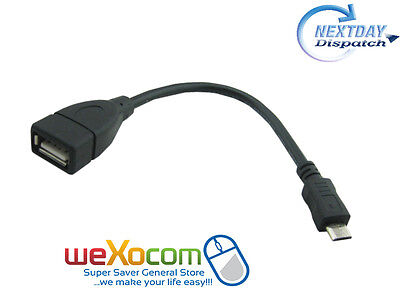 Micro USB Host Cable Male to USB Female OTG Adapter Android Tablet PC & Phon