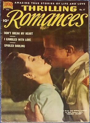 Thrilling Romances #17~1951~Very Good~Golden Age~Jane Greer~Standard Comics