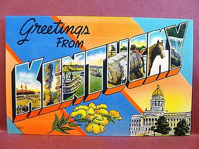Postcard KY Large Letter Kentucky