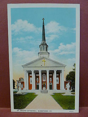 Old Postcard KY Bardstown St. Joseph Cathedral
