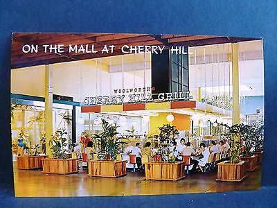 Postcard NJ Cherry Hill Cherry Hill Shopping Center Mall Woolworth's Grill