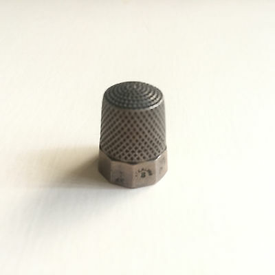 Vintage Sterling Silver Simons Bros. Size 8 Thimble 10 Panel Engraved