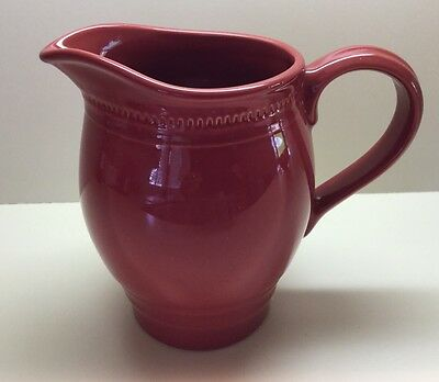 "Dansk Craft Colors // ""Rhubarb Red"" Pitcher // 64 Oz. // Beautiful !!!"