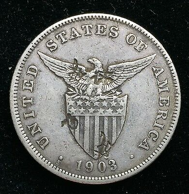 1903s Peso US-Philippines  Silver Coin w/ Chinese Chopmarks - lot#4