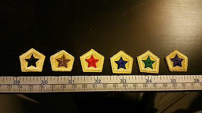 All 6 Retired Canadian Cub Scout Star Badges