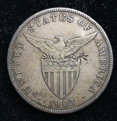 1903s Peso US-Philippines  Silver Coin w/ Chinese Chopmarks - lot#11