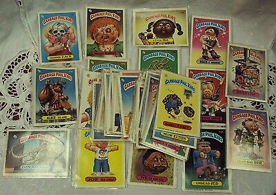 Vtg 1986 GARBAGE PAIL KIDS Sticker Card Collection ~ Lot/46 ~ TOPPS CHEWING GUM