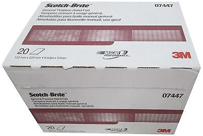 3M 07447 Scotch-Brite Maroon General Purpose Hand Pad,20 Pack Made of nylon web