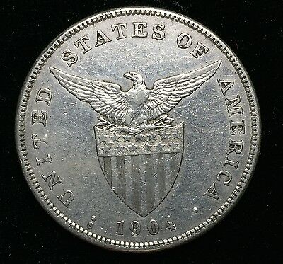 1904s Peso US-Philippines  Silver Coin - lot#11