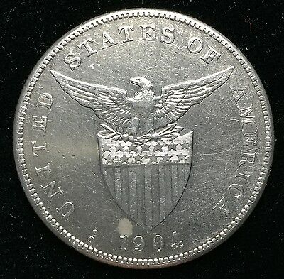 1904s Peso US-Philippines  Silver Coin - lot#13