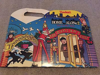 Vintage 1990's Hardee's HOME ALONE 2 Kids Meal Box Happy Meal