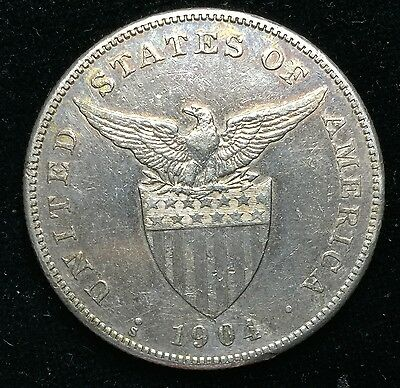 1904s Peso US-Philippines  Silver Coin - lot#15
