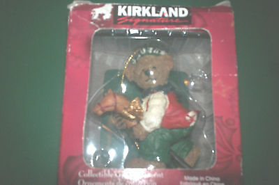Kirkland Signature Collectible Gift Ornament Sants Bear On Stick Horse