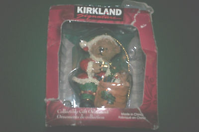 Kirkland Signature Collectible Gift Ornament Sants Bear & His Sack