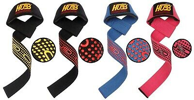 Wrist Strap Wrap Hubb Pro-Grip Fitness Gym Gloves Exercise Weight Lifting Straps