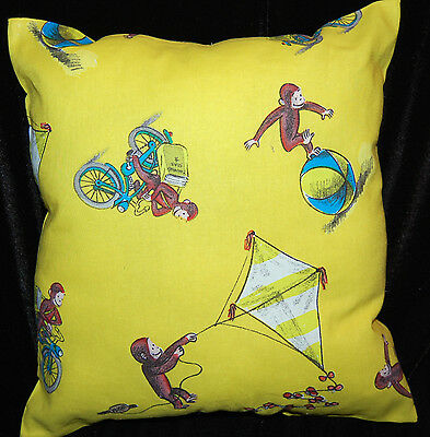 New Handmade Curious  George Yellow Toddler/ Daycare / Travel Pillow
