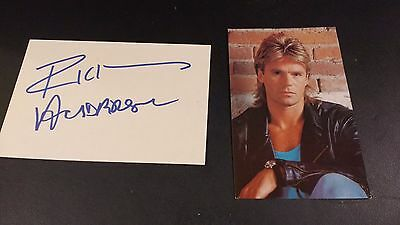 Richard Dean Anderson MacGyver photo Index Card and Promo Photo