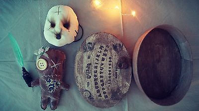 Voodoo Kit With Ouija Board Box,Planchette,Mini Mask And Needle