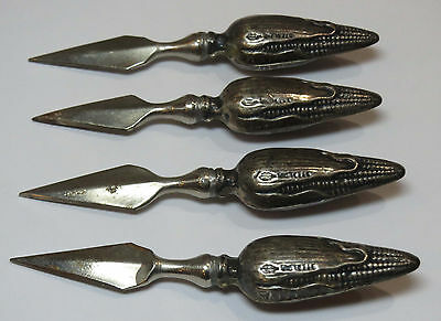 Vintage Sterling Corn on the Cob Holders Spikes by Webster Company