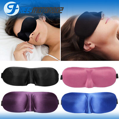 Eye Mask Eyepatch Travel 3D Sleep Sleeping Relax Cover Shade Blindfold Shield
