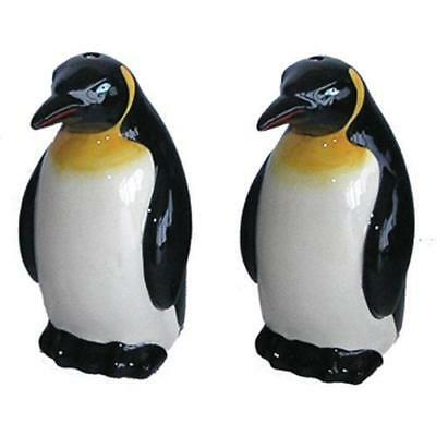 Collectable Novelty Salt & Pepper Set PENGUIN Black and White Kitchen FREEPOS...