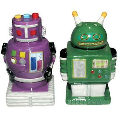 Collectable Novelty Salt & Pepper Set ROBOTS 2 Colours Set FREEPOST NEW