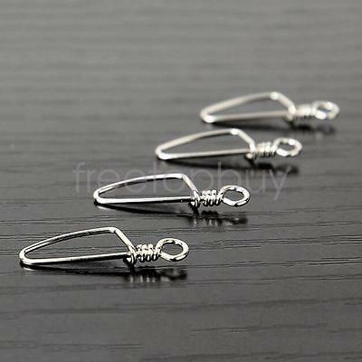 50pcs Snap Fishing Barrel Swivel Safety Snaps Hooks Top Quality Durable Hot Sale