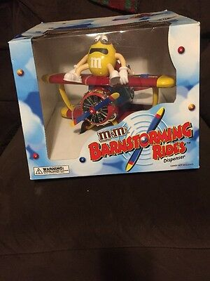 M&Ms Red and Yellow Barnstorming Rides Plane Candy Dispenser , New in the Box