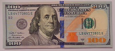 1x Uncirculated $100 Federal Reserve Note US Currency One Hundred Dollar Bill