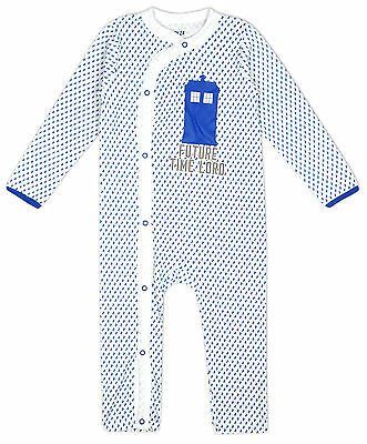 Boys Baby Doctor Who Tardis Future Time Lord Sleepsuit Newborn to 24 Months