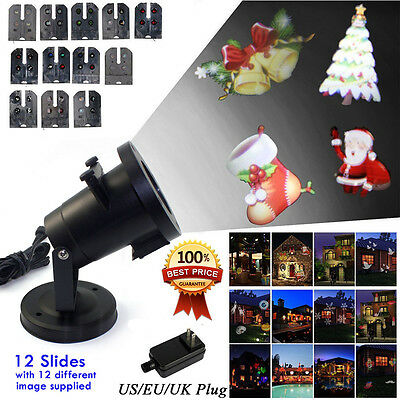 Waterproof Moving Christmas Projector Lights 12 Switchable Pattern Garden Light