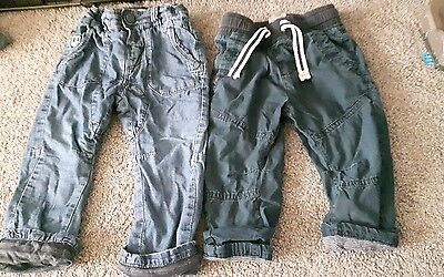2 pairs of boys next jeans/bottoms age 12-18 months