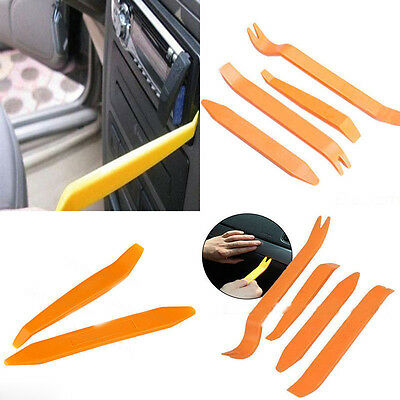 4Pcs Auto Car Pry Tool Kit Radio Door Trim Clip Panel Stereo Light Removal Tool