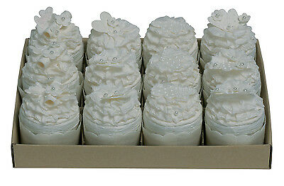 11 White cupcake Gift boxes- Handmade -Wedding Favours Table presents SALE