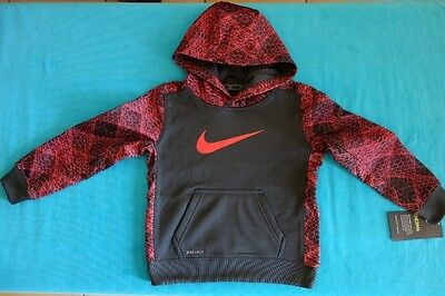 Nike Toddler Tracksuit Top With Hoodie - New - Size 3T Jumper Jacket Therma Grey