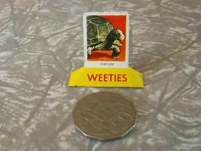 COLLECTABLE  VINTAGE TIN  1950's weeties CEREAL TOY 'TORTOISE''