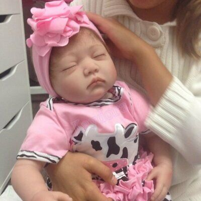 "22"" Realistic Reborn Doll Real Life Baby Girl Dolls Newborn Kids Birthday Gift"