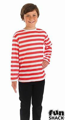 Red and White Striped Top Costume Boys White TV and Film Costumes