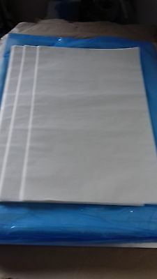 """5  LARGE WAXED CRAFT PAPER SHEETS - 15"""" x 10"""" - DIE CUTTING EMBOSSING SOAP WRAP"""