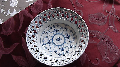 Magnificent Royal Copenhagen Blue Fluted Full Lace Bowl