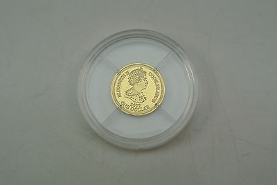 One 1 Dollar 2007 Cook Islands Monaco 2007 Gold 999/ooo PP..M968