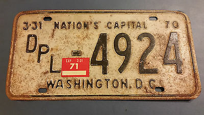 1971 District Of Columbia Dpl-4924 Diplomat License Plate