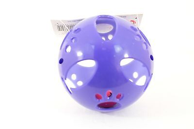 Plastic Cat Toy - Purple with Bell