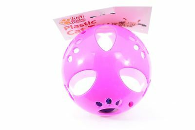 Plastic Cat Toy - Pink with Bell
