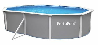 "BNIB - PortaPool Above Ground ""Big Oval"" Pool 4.9m by 3.6 Metre Oval"
