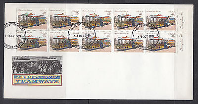 1989 Tramways Booklet Cover Ov/pr Stampshow 89
