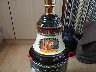 Bells Whisky Decanter - Empty - Christmas 1991